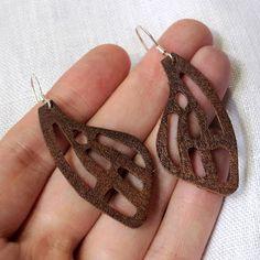 Die cut leatherette earrings