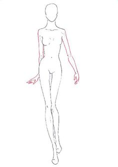 How to draw fashion figure walking