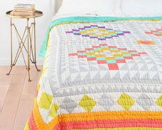 Kaleidoscope Patchwork Quilt | 20 Comforters + Duvet Covers That Won't Break the Bank