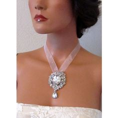 bridal necklace by BijouxandCouture, $85.00.  This would be amazing with a chain!