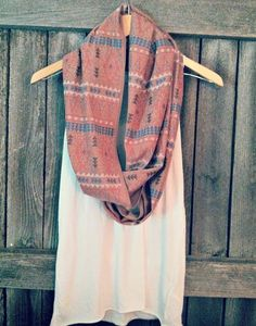 FREE SHIPPING Hipster Scarf Tribal Scarf Aztec by pebbyforevee, $35.00