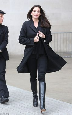 Style savvy: Liv Tyler, 40, looked effortlessly stylish as she left BBC Broadcasting House in London following a radio interview on Tuesday