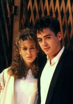 Sarah Jessica Parker & Robert Downey Jr. in the 80's