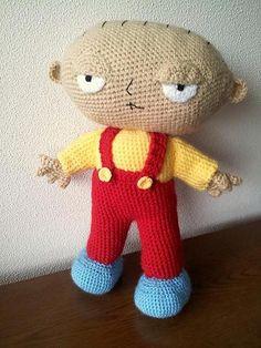 FREE Stewie Griffin - Family Guy Crochet Pattern