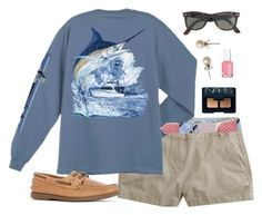 """""""ap testing today"""" by classically-preppy ❤ liked on Polyvore featuring J.Crew, Sperry Top-Sider, Essie and NARS Cosmetics"""