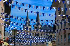 Amazing old town decoration in Bavaria colours blue/white. Captured as seen! [Berchtesgaden, Bayern]