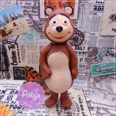 Enfeite de mesa Urso - 20cm - Masha e o Urso - Paty's Biscuit