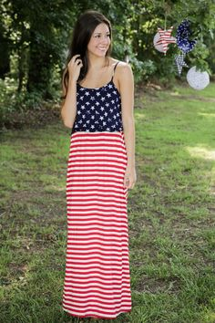 Old Glory Maxi Dress - New Today | The Red Dress Boutique