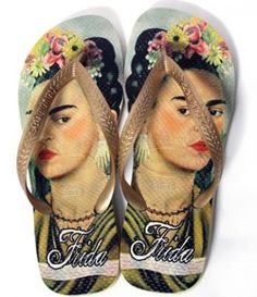 Frida Kahlo Havaianas - Need these in my life, I mean on my feet.   Stat!!!