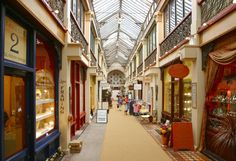 Shopping arcade in central Bristol (Broadmead Shopping Centre). This one survived the Bristol Blitz during WWII.