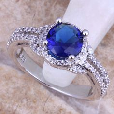 USA vendeur Anneau Argent Sterling 925 BEST DEAL Jewelry Blue Lab Opal Taille 8