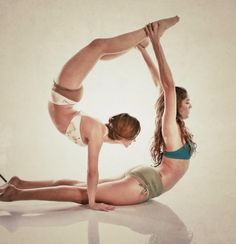 partner yoga if only Jody was as flexible as he is strong!  Ha ha