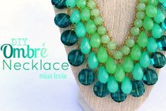 DIY Ombre Necklace from Miss Lovie Creations. Love all the bright colors! Vial, this looks like something you would love! Beaded Jewelry, Handmade Jewelry, Handmade Gifts, Diy Jewellery, Jewlery, Fashion Jewelry, Jewellery Project, Saree Jewellery, Recycled Jewelry