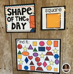 This would be great to have by the outside door. While kids are waiting in a line a teacher can call the students and play I spy with shapes and colors.