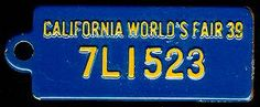 1939 California BF Goodrich Tag (front)