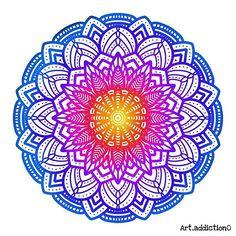Art addiction (@art_addiction0) • Fotos y videos de Instagram Art Addiction, Beach Mat, Outdoor Blanket, Instagram, Videos, Magick, Mandalas, Blue Nails, Colors