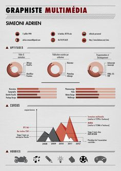 the new curriculum vitae by simeoni adrien, via Behance