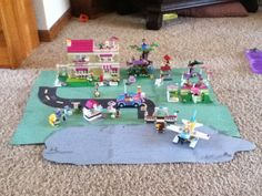 I love making and playing with Lego Friends!  My sister and I made a Lego World!