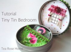 Tea Rose Home: Tutorial: Tiny Tin Bedroom.  I'm totally thinking stocking stuffer on this one . . .  so cute!