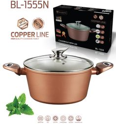 "Blaumann 24cm Ceramic Coating Casserole "" Copper Line "" Soft Touch Han – Restful Spaces"