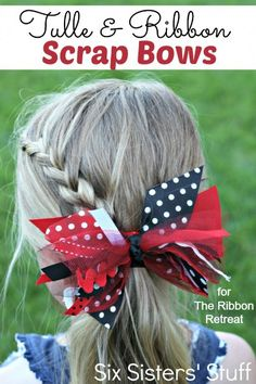 Tulle & Ribbon Scrap Bows - The Ribbon Retreat Blog