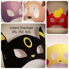 P. Go 5 in 1 Printable/Cut Mask File Mask por AtelierElegance
