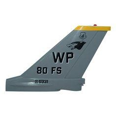 80 FS F-16C Tail Flash