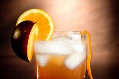 3 oz brandy, 2 oz cinnamon plum syrup, 1 oz fresh lemon juice
