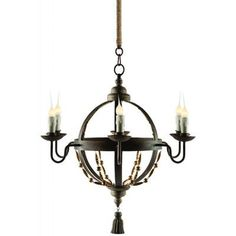 Aidan Gray Atlas 5 Light Candle-Style Chandelier