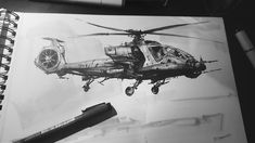 ArtStation - Inktober #3 2016 Helicopter Hybrid, Darek Zabrocki