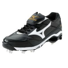 70844dbe1 Mens Mizuno Pro KL 6 Baseball Cleats Black Leather - ONLY  124.99