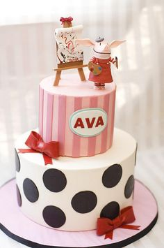 @Olivia McDonald Someday I'm going to make you this cake but it'll say Olivia on it(: It's going to be pretty amazing! (it's a Olivia the pig show cake in case you can't tell)