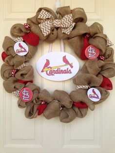 Hey, I found this really awesome Etsy listing at https://www.etsy.com/listing/178555648/st-louis-cardinals-burlap-wreath