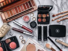 From Summer to Autumn Transitional Makeup - Soft October Night - A Style and Creativity Blog  Urban Decay Naked Heat - Chanel Makeup - Colourpop - Nars - Anastasia Beverly Hills Glow Kit