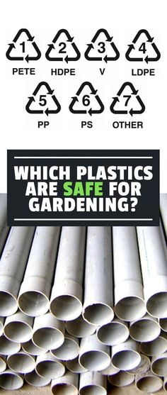 Knowing which plastics are safe for the garden is key to making sure you don't use harmful materials that leach chemicals into your food.