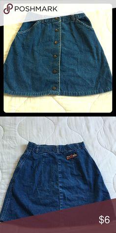 Jean skirt Slightly wrinkled button up jean skirt Skirts
