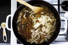 tofu, mushrooms, optional bamboo shoots. Hot and Sour Soup