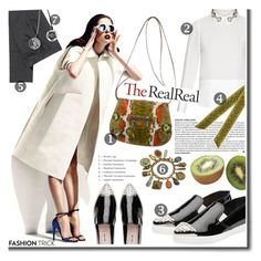 """""""Fall Style With The RealReal: Contest Entry"""" by cherry1987 ❤ liked on Polyvore featuring VILA, Muveil, Balenciaga, H&M, Henri Bendel, Sweet Romance and Miu Miu"""