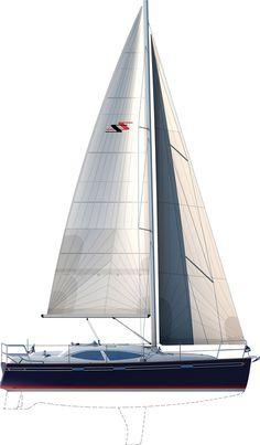 Southerly 32 - Sailplan & Deckplan