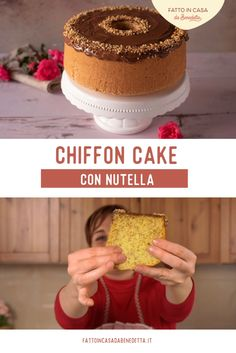 Chiffon Cake, Pastry Cake, Italian Recipes, Nutella, Food And Drink, Cooking Recipes, Desserts, Tailgate Desserts, Makeup Tips
