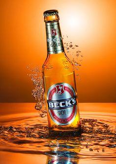 Becks Gold, Beer, Bierflasche, Produktfotografie, Beverage Photography, Underwater Photography, Liquid Photography