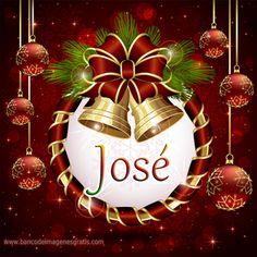 Postales navideñas con nombres: José.