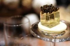 nicolas feuillatte champagne gelee, american sturgeon caviar, white chocolate...Brilliant!
