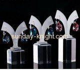 Fashion clear acrylic logo block jewelry display JDK-040