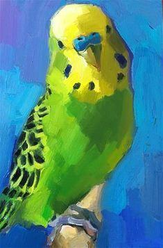 Daily Paintworks - - Original Fine Art for Sale - © Katya Minkina Bird Painting Acrylic, Watercolor Portrait Painting, Watercolor Bird, Painting & Drawing, Modern Art Paintings, Easy Paintings, Animal Paintings, Oil Paintings, Flower Pot Art