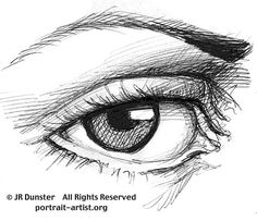 How to Draw Eyes - for Woodcarving. Detail of eye