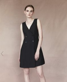 Dress Up Style: Buttoned Dress Colour: Black Dress Colour, Colour Black, Color, Button Dress, Up Styles, Minimal, Dress Up, Dresses For Work, Buttons