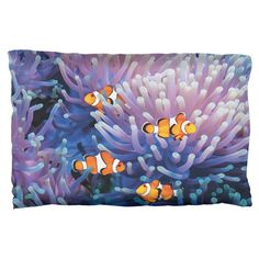 Clownfish Sea Anemone Pillow Case