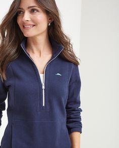 Tommy Bahama - Aruba Angle Pocket Half-Zip Sweatshirt