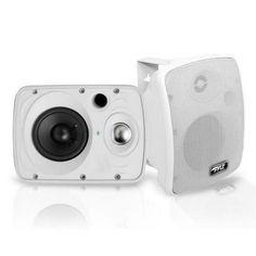 Waterproof & Bluetooth 6.5'' Indoor / Outdoor Speaker System, 800 Watt, White